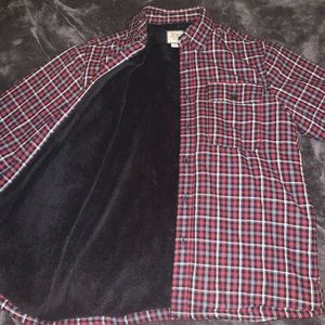 Insulated red and black flannel